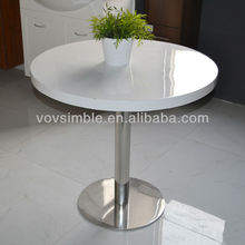 acrylic solid surface dining table, prefab homes solid surface dining table set, shenzhen pictures of dining table