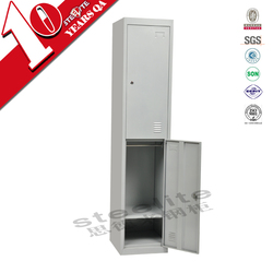 lightweight two tier closet organizers / 2 door iron clothes cabinet for sale