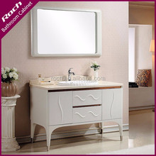 ROCH 8039 Rectangle Solid Wood Bathroom Vanity Antique With Cream marble Top
