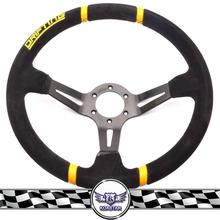 350mm High Quality Suede Deep Dish Steering Wheel