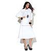 Pretty steps 2015 quality ladies designer white a line skirt business casual long