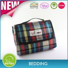 Summer Stripe Outdoor Blanket - WaterProof Backing Picnic Rug - Easy To Fold