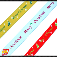 Manufacturers hot sell of color custom christmas ribbon