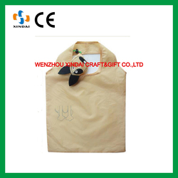 Cute Dog design foldable shopping bag,cheap nylon foldable shopping bag