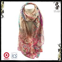 The new arrived design for girls fashion chiffon scarf shawl