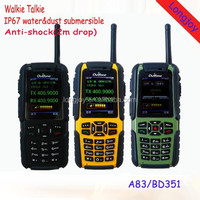 2015 Best Walkie Talkie GSM IP67 Waterproof Military Mobile Phone with Walkie Talkie GPS