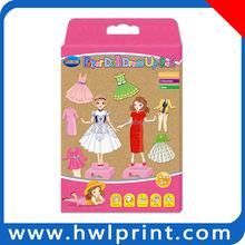 Factory design good price dress girl skirt change DIY Creative Paper Set