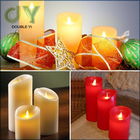 Custom Paraffin wax Material Flameless Feature Wax Remote Control LED Color Changing Candle
