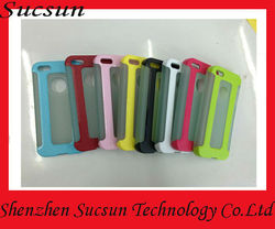 Tpu bumper + matte PC backside case for iphone 5, paypal is accepted