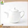 wholesale price elegant modern white ceramic japanese style teapot with lid