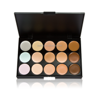 Top-quality professional mineral 15 color face cream concealer palette