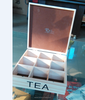wooden tea box with compartments &liners