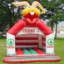 inflatable the red rabbit cartoon castle bounce,Inflatable Animal Castle jumping house For Sale
