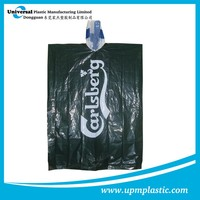 Outdoor emergency lightweight Promotional disposable LDPE rain Ponchos