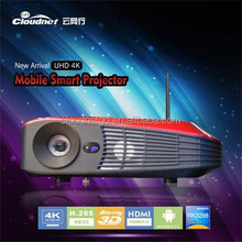 Cloudnetgo RK3288 Quad Core Andtrod 4.4 LED 3D Projector/pico projector support Xbmc Skype,youtube/projector lamp life 50000 hr