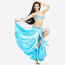 Wucheial bestnote sexy himmelblau heißer verkauf bauchtanz kostüm für Leistung/neueste sexy mädchen bauchtanz kostüm