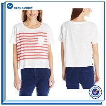 Formal de impressão personalizada Casual modelos de blusas de tecido das mulheres