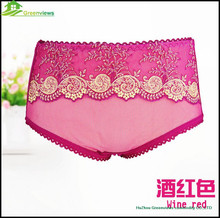 Wholesale sexy women's underwear ladies bamboo fiber underwear women lace panties GVMT0021