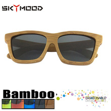 polarizadas para los hombres carbonizado madera Gafas sol Bambú fotos