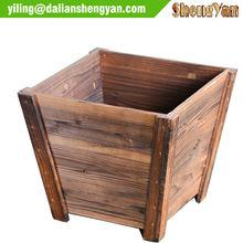 Outdoor Rectangular Wood Flower Pot / Wood Planter / wood flower box