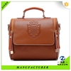2015 stylish low MOQ leather sling bag for travel