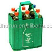 custome bulk heavy duty reusable wine tote bags