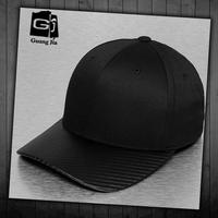 Wholesale mens black legend short brim high quality fitted leather 6 panel baseball cap