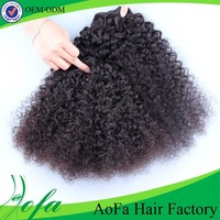 Double wefts top quality cheap 100% virgin afro kinky curly human hair