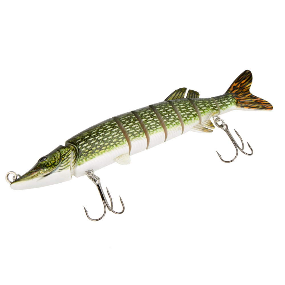 Customized pike 2015hot pike swimbait hard plastic multi for American fishing tackle company