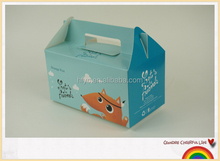 Best seller birthday cake box packaging take away food box with handle
