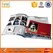 Saddle stitching soft cover color printing book,flyer,booklet