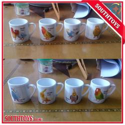Mini ceramic cup printed bird cup for capsule vending machine