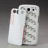 2D Sublimation Blank Cell Phone Cases Plastic Case for Galaxy S3 I9300