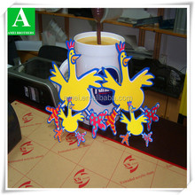 OEM thermoformed engraved cartoon plastic plate