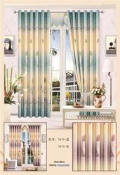 polyester semi & blackout window print curtain blind