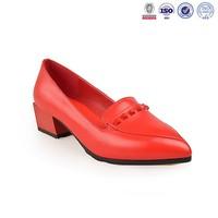 latest woman dance shoe leather hand-made false rhinestone dress shoes