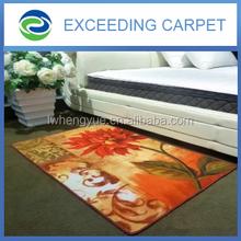 new printed custom logo polyester indoor outdoor rug