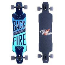 Backfire Natural Blank Drop Through Complete Longboard Professional Speed skateboard