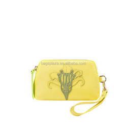 CL11-086 Promotion bag with flower Guangzhou wholesale yellow cheap bag
