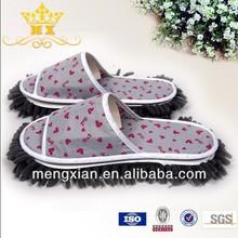 Multi-function chenille dust mop slippers