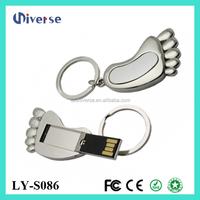 Foot shape customized usb flashdrive /usb 32gb 64gb 128gb thumb drive in Shenzhen