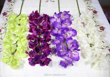 Wholesale artificial orchid flower blue and purple for wedding