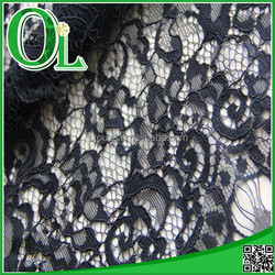 ladies dress material African nylon and cotton lace fabric cord lace 2015