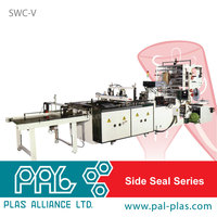 Taiwan made Side sealing courier/DHL/security bag making machine