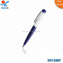 Novelty design with hourglass plastic feature ballpoint pen