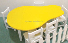 2015 New pears white surface kids table and chair