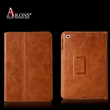 Folio opening stand luxury leather for ipad case