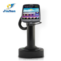 2015 fashion new design black smartphone display stand with secure alarm and chargeable