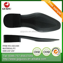 men pu dress shoe sole for shoe factory