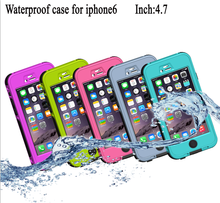 Wholesale waterproof case for iphone 6 and plus, touch-tone waterproof case for iphone6 and plus